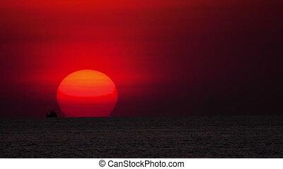 Sunset landscape at Phuket - Sunset over ocean landscape,...