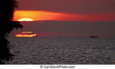 Sunset landscape at Phuket - Sunset over ocean landscape...