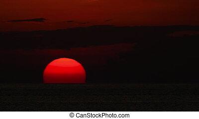 Sunset landscape at Phuket - Timelapse of sunset over ocean...