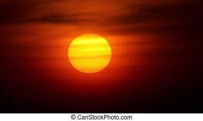Sunset landscape at Phuket, timelapse - Sunset over ocean...