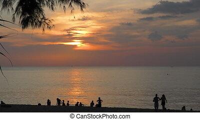 Sunset landscape at Phuket