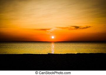 Sunset Landscape at Seaside
