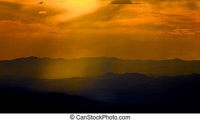 Sunset Light in the Ski Basin