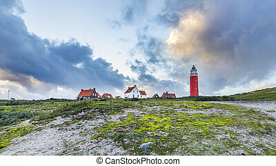 Sunset Lighthouse Texel Netherlands