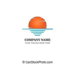 sunset logo template