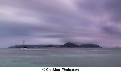 Sunset Long Exposure Timelapse, La Digue, Seychelles - Long...