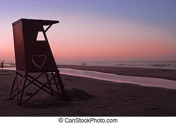 Sunset love summer time