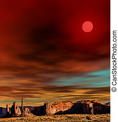 Sunset Monument Valley - Monument Valley Arizona with...