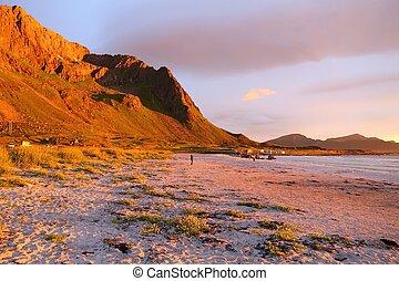 Sunset mountains, Norway