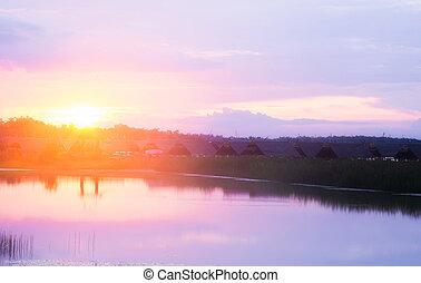 sunset nature background.