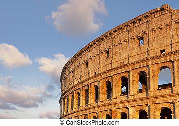 Sunset near the Colosseum