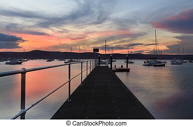 Sunset New Brighton Public Wharf Saratoga Australia