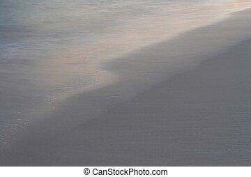 sunset oceanic shore