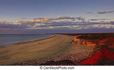 Sunset of Western Australia coastline