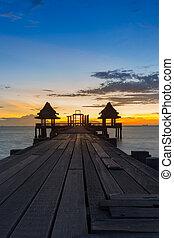 Sunset of Wooden Bridge