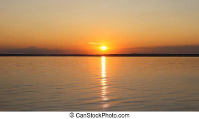Sunset on a ocean shore