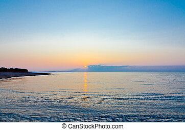 Sunset on beach at  Prince Edward Island, Canada