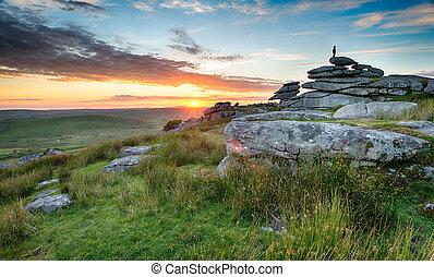 Sunset on Bodmin Moor