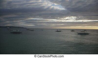 Sunset on Boracay Island