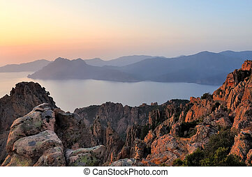 sunset on Callanques Corsica