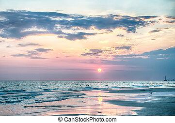 Sunset on Florida Beach - Sunset ongulf of mexico Florida...