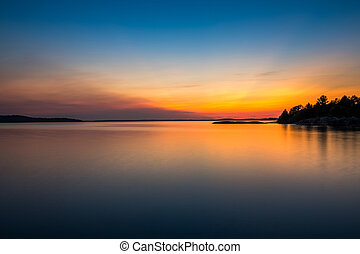 Georgian Bay - Sunset on Georgian Bay at Parry Sound