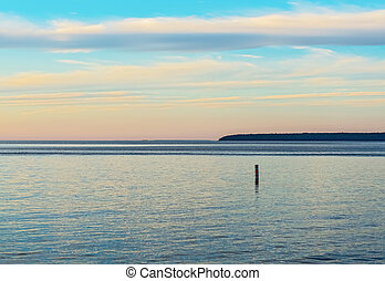 Sunset on Georgian Bay in Ontario Canada