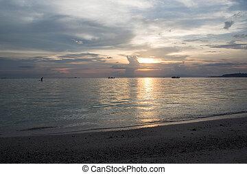 sunset on gili air