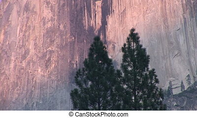 Half Dome, Yosemite National Park - Sunset on Half Dome,...