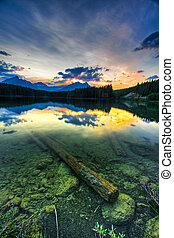 Sunset on Herbert Lake, Banff