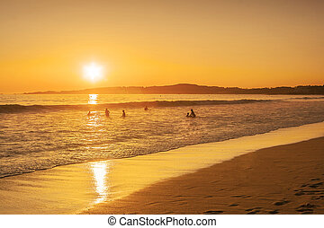 Sunset on Lanzada beach
