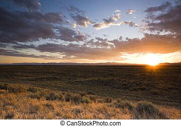 Sunset on Prairie