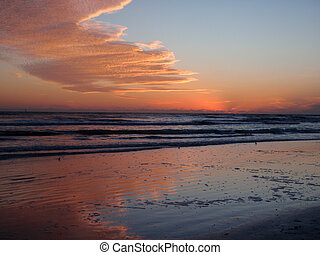Sunset on Siesta Keys beach