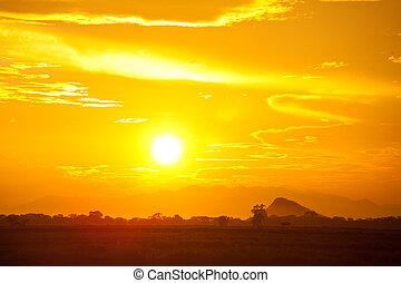 Sunset on Sri Lanka - sunset on Sri Lanka