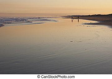 Sunset on Stockton Beach. Port Stephens. Anna Bay....