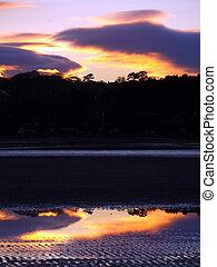 Sunset on Swansea Beach