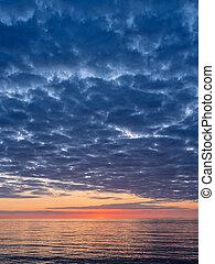 Sunset on the Baltic Sea coast.
