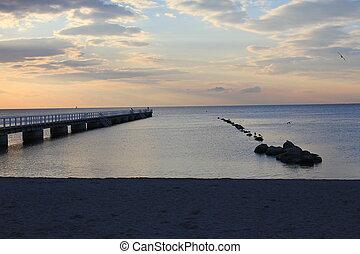 Sunset on the beach 1