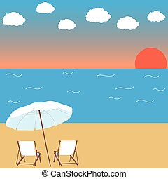 sunset on the beach background