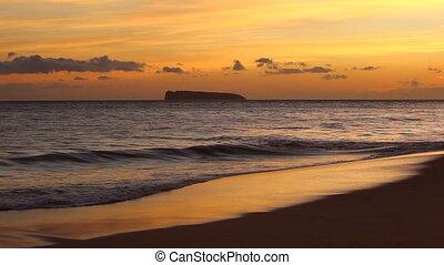 Sunset on the Beach in Hawaii
