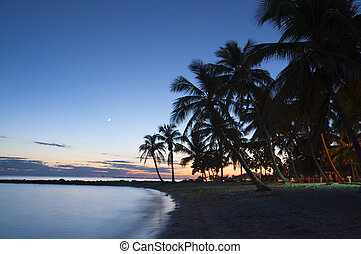 Sunset on the beach in Key West, Florida