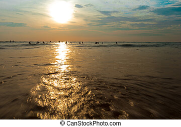 Phuket Island, Thailand sunset on the sea in the vicinity of Kata Beach