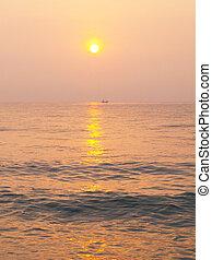 Sunset on the beach