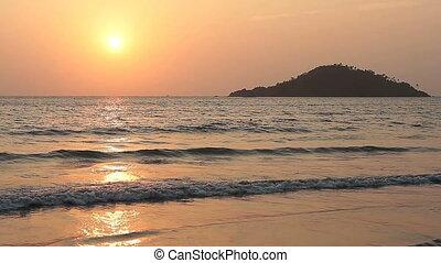 Sunset on the beauty Beach