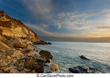 Sunset on the Black Sea coast