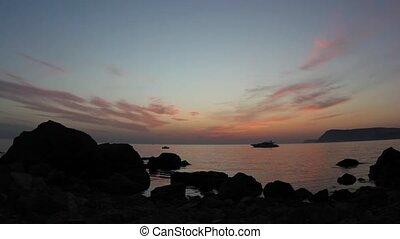 sunset on the Black Sea.