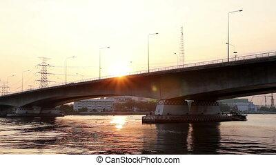 Sunset on the bridge