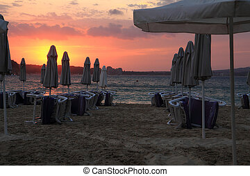 sunset on the Bulgarian Beach