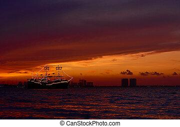 Sunset on the Caribbean Sea
