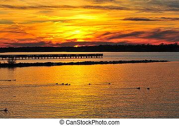 Sunset on the Chesapeake Bay Maryland
